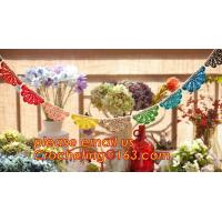 China WEDDING BANNER, PARTY, BIRTHDAY, DECORATION, PERSONALIZED, BURLAP, BUNTING, LACE, TRIANGLE, FLAGS, BANNERS on sale