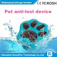 Buy cheap cheap mini long distance gps tracker for dogs cats pets with smart rolling LED light from Wholesalers