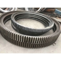 China Large Diameter 16000mm Mill Girth Gear For Rotary Kilns And Grinding Mills factory