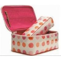 China dots prints PVC washing case-cosmetic case-storage bag on sale