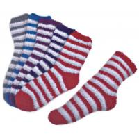 Buy cheap Stripe pattern ,Aloe Infused SPA Socks polyester plush therapy spa sock from Wholesalers