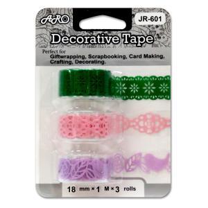 JR-601B2 Paper Lace Tape, die cut, middle cut out, single color