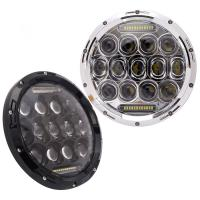 Buy cheap 7 inch round led headlight 12v/24v 4x4 track Accessory round 7inch 75w led auto headlight from Wholesalers