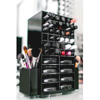 China High clear customized acrylic spinning lipstick holder rotatable makeup organizer factory