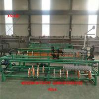 China China High Speed 4m width double wire feeding Fully Automatic Chain Link Fence Machine factory