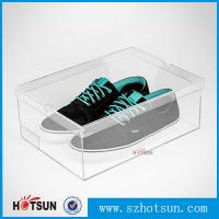 China Display Racks Showcase Clear Transparent Acrylic Shoe Box for wholesale factory