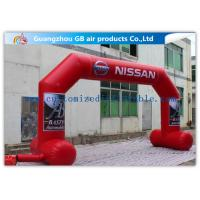 Buy cheap OEM / ODM Red Custom Inflatable Arch With Stable Legs Digital Printing from Wholesalers