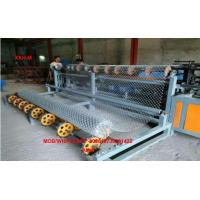 China PLC Control full Automatic Diamond Wire Mesh Making Machine/chain link fence machine factory