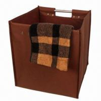 China Foldable Square 600D Polyester Laundry Bag, Measures 32x32x35cm factory