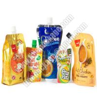 China liquid stand up pouch with spout, drink spout bag, drink spout pouches on sale