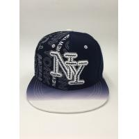 Buy cheap Snapback Baseball Hat Black Dark blue Letter Embroidery Printing Gradient ramp from Wholesalers