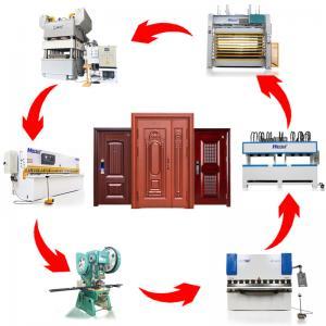 China HARSLE Standard Security Steel Door Embosssing machine Production Line for metal door skin on sale