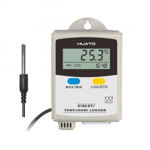 Grey Color Temperature Humidity Data Logger For Temperature Measurement