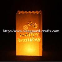 China hot sale custom made candle packaging paper bag fashion wax candle bags factory
