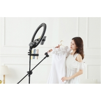 Buy cheap selfie led ring light 18inch with tripod stand with phone holder accessories from wholesalers