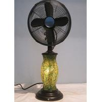 Buy cheap 110V 3 Speed Vintage Oscillating Table Fan , Classic Design Base Decorative Desk Fan from Wholesalers