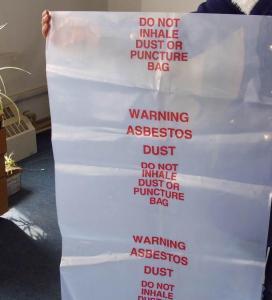 China Puncture bags, Asbestos bag, PE asbestos bag, biohazard bag, pe cover film, rubble sack factory