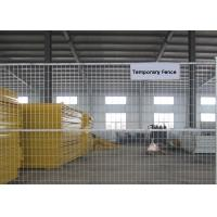 Buy cheap Hot Dipped Temporary Construction Fence , Temp Fence Panels 2.4m Length from Wholesalers