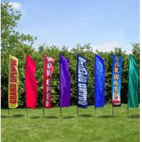 Buy cheap Rectangle Full Color Decorative Beach Flags Hot Transfer Printing from Wholesalers