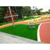 China Outdoor Playground Soft Rubber Flooring / Weatherproof Rubber Granules Flooring factory