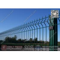 China Green Color PVC coated Welded Wire Fence Panels 1.8m high X 3.0m width on sale