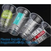 China Food grade 12oz 375ml cold drink transparent biodegradebale PET disposable plastic cup/airline plastic drinking cup on sale