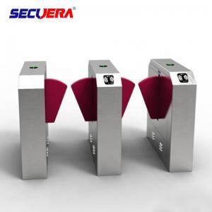 China Access control system fingerprint turnstile gate qr code reader flap turnstile barrier gate factory