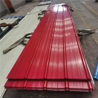 Buy cheap lifespan 20 years wine red 0.476mm thickness of corrugated roof steel sheet for from wholesalers