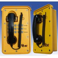 Buy cheap Yellow Wall Emergency Weatherproof Telephone With Steel Keypad from Wholesalers