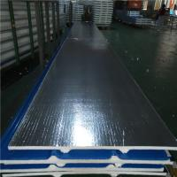 China 30mm silver paper polyurethane foam sandwich roof panel 840-30-0.376mm for house factory