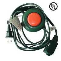 China Three outlet US Christmas tree extension cord with foot switch, UL, Promotion factory