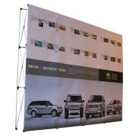 China Easy Installation Trade Show Backdrop Displays Folding Banner Stand Smooth Surface factory