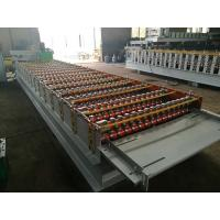 China GI / PPGI Roof Panel Roll Forming Machine PLC Control Cold Roll Forming Process on sale