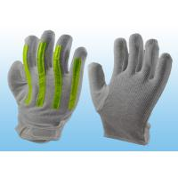 Buy cheap Interlock Finger Reflective Gloves For Directing Traffic , Cotton Hand Gloves Velcro Type from Wholesalers