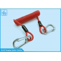 China Spring Tool Lanyard With Safe Spring Hook For The Height Safety Dropped Objects factory