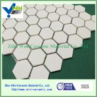 China China Manufacturer Supplied Alumina Ceramic Hexagonal Sheet as Wear Resistant Liners factory