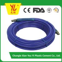 Quality 3/8 inch colorful high pressure fiber braided pvc plastic air hose wholesale
