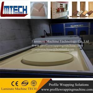 China pvc foil cabinet door surface vacuum membrane press machine on sale