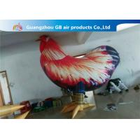 China Outside Standing Inflatable Cartoon Characters PVC Rooster Animal Cock Model factory