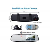 China HD 1080p Vehicle Black Box DVR Rear View Dual Mirror Lens 4.3 Inch Screen on sale