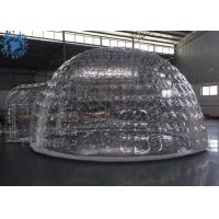 China Outdoor Transparent Inflatable Dome Tent For Mobile Hotel / Clear Igloo Tent factory