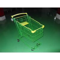 Buy cheap Colored Coated Wicker Shopping Trolley with curved plastic handle from Wholesalers