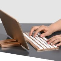 Buy cheap Single Item Folding Bluetooth Keyboard 180mAh Li - Ion Battery With Stand Holder from Wholesalers