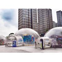 China Outdoor Single Tunnel Inflatable Bubble Tent Double And Quadruple Sewing factory