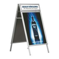 Buy cheap Hotel Aluminum Double Side Free Standing Poster Display Stands from Wholesalers