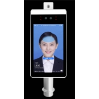 China AI Face Recognition Body Floor Standing Temperature Scanner on sale