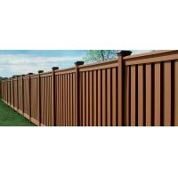 Buy cheap Anti - Oxidation Cedar Composite Picket Fence Panels , Brown Moisture Composite Wood Fence from Wholesalers