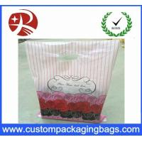 Buy cheap Recyclable Dustproof Shopping Plastic Die Cut Handle Bag Customized Design from Wholesalers