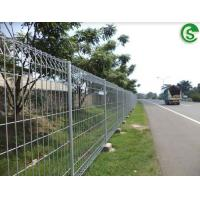 Buy cheap Powder coated 6ft welded wire mesh roll top fence panels with post from Wholesalers