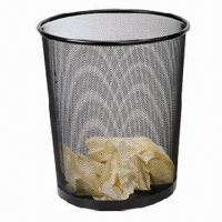 China Metal Mesh Waste Bin, Available in Epoxy Black factory